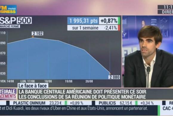 BFM Business – 24 heures avant la décision de la FED, les marchés savent à 90% ce qui va se passer – G. Dard vs. P. Sabatier