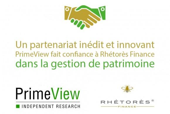 PrimeView fait confiance à Rhétorès Finance dans la gestion de patrimoine