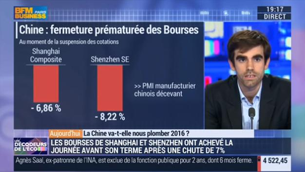 BFM BUSINESS – La Chine va-t-elle nous plomber 2016 ?
